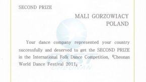 II miejsce na International Folk Dance Competition